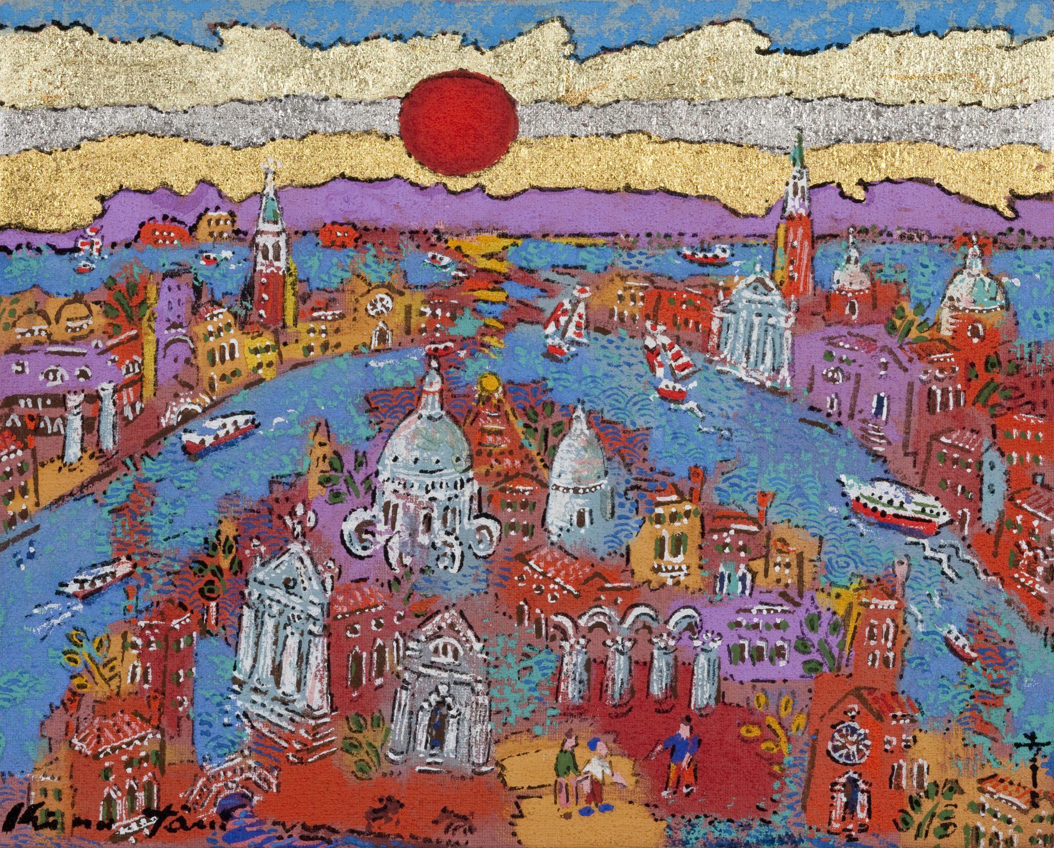 「アドリア海に昇る日輪」