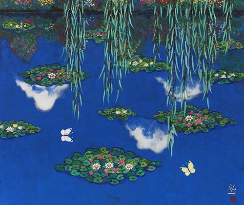 モネの池 白雲